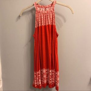 NWT Red & White Patterned Loft Tank